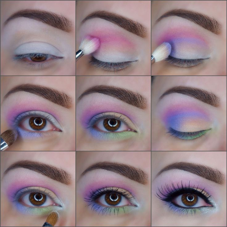 Värikäs pääsiäissilmämeikki | Colourful easter eye makeup with neon colours