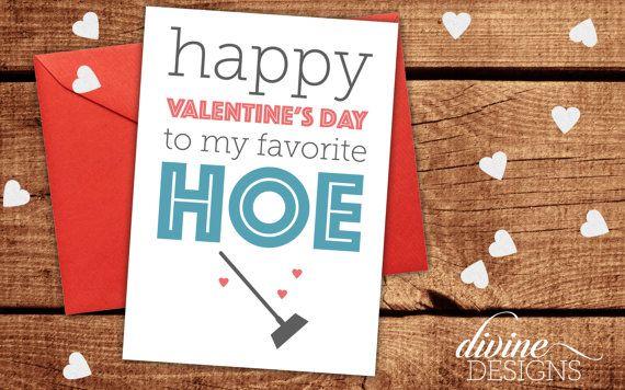 Happy Valentine's Day to my favorite hoe! - Friend Valentine's Day Card - Valentine's Day Card - Funny Valentines Day Card - Funny Love Card