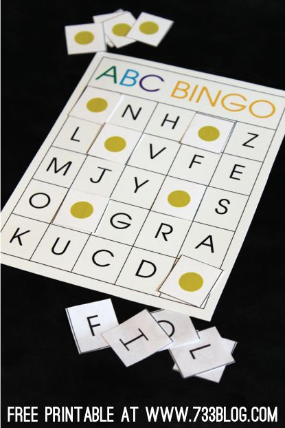 ABC Bingo Free Printable - Great game for preschoolers