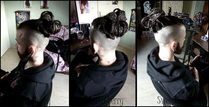 Pose de dreads courtes et fines