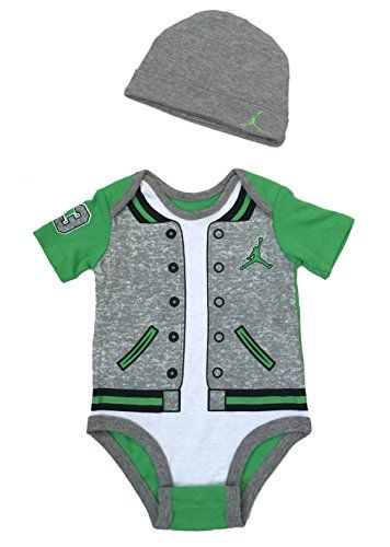best sneakers 93d75 55624 Nike Jordan Infant New Born Baby Bodysuit and Cap 2 Pcs Layette Set 03  MONTHS   Continue to the product at the image link.(It is Amazon affiliate  link)   ...