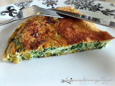 Frittata di spinaci e piselli . Spinach and pea pie