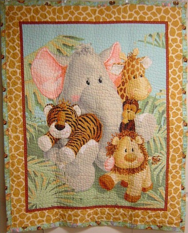 Baby Quilt Patterns Using A Panel : jungle themed quilt pattern Jungle Baby Panel Quilt cute quilts Pinterest Shops, Babies ...
