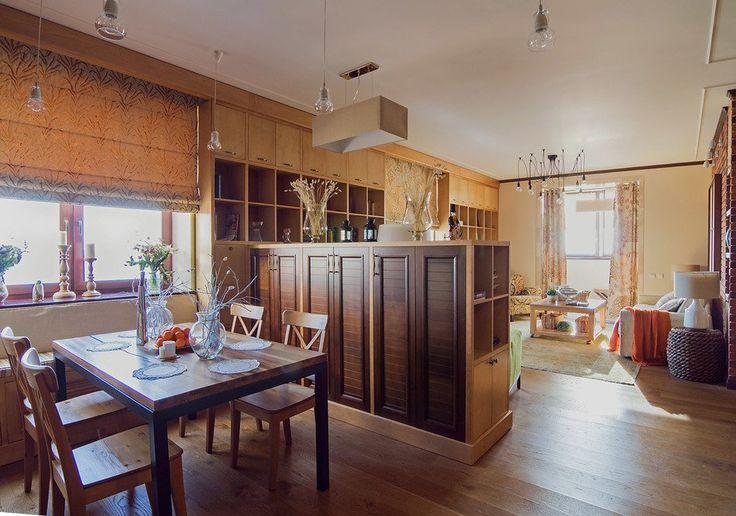 перегородка между кухней и гостиной Как оформить квартиру в стиле лофт: 84 квадратных метра в Москве
