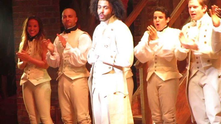 Daveed Diggs' last HAMILTON Broadway curtain call, July 15, 2016