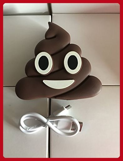 Zuzo NEW Poop Emoji 8800mAh 5V/1.5A Portable Charger For IOS Android Phones by Zuzo (Poop) - Fun stuff and gift ideas (*Amazon Partner-Link)