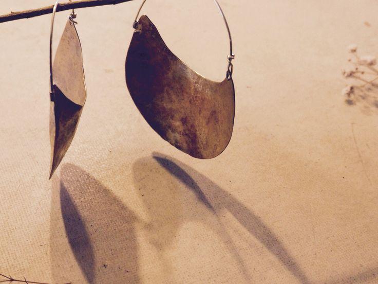 Handmade brass earrings    Uscha.com.au