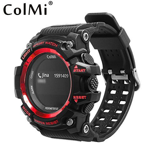 ColMi Smart Sport Watch T1   Function:Chronograph,Calendar,Remote Control,Alarm Clock,Month,Push Message,Passometer,Message Reminder,Sleep Tracker,Heart Rate Tracker,24 hour instruction