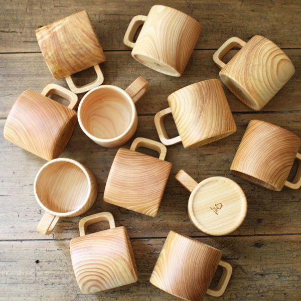 tasse mug en bois