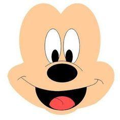 Moldes para Todo: ≈Arma la carita de Mickey o Minnie ≈