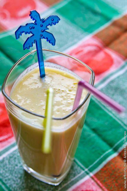Бананово-молочный коктейль (смузи)