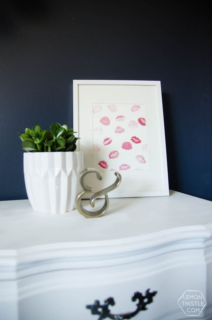 Diy kisses art so cute for valentine 39 s day or a girly for Diy girly room decor