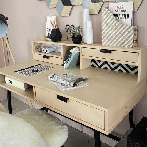 Bureau en bois L 120 cm
