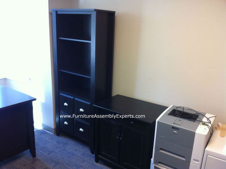 Staples Bookcase And Storage File Cabinet Made By Sauder Assembled For A Company In Capitol Hill DC Furniture Assembly ExpertsR LLC