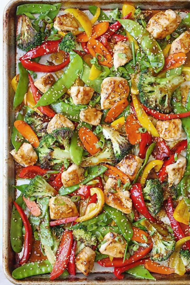 This Sheet Pan Asian Stir Fryis packed with protein to keep you full and loaded with fresh vegetables like bell peppers, broccoli florets, and carrots. The best part? Itrequires one...