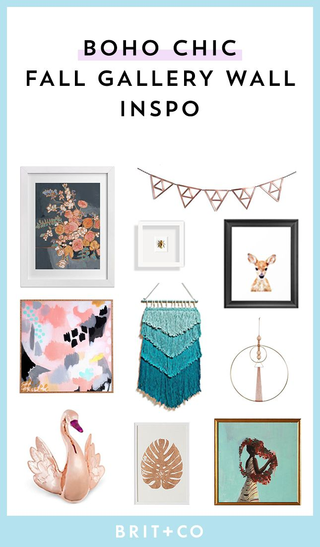 Use These Home Decor Tips To Give Your Gallery Wall A Boho Chic Look For The