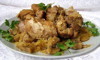 W Mojej Kuchni Lubię.. : szybkowar-cielęcina z kiszoną kapustą i pieczarkam...