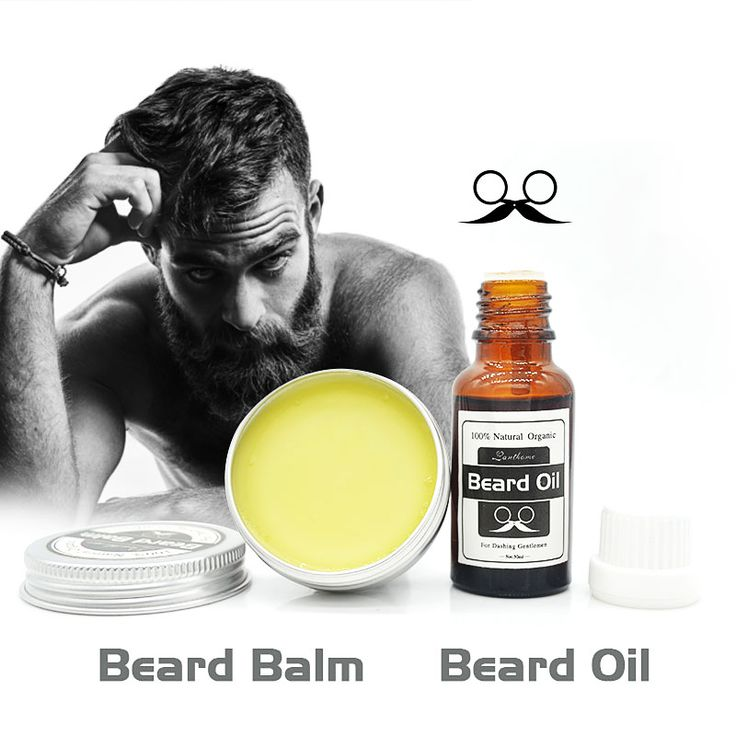 Lanthome 100% Natural Beard Oil plus beard care wax balm Organic Beard Conditioner Leave in Styling Moisturizing Effect