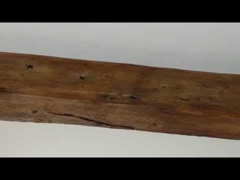 Oak beam made from plaster 004 - YouTube