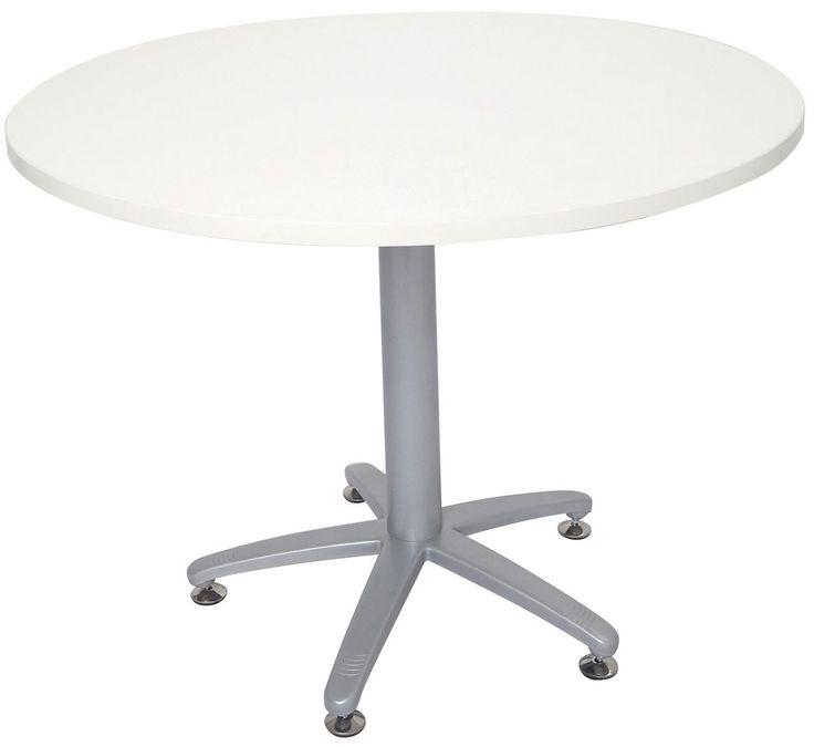 Rapidline Rapid Span Round Table Four Star Base White – Dunn Furniture