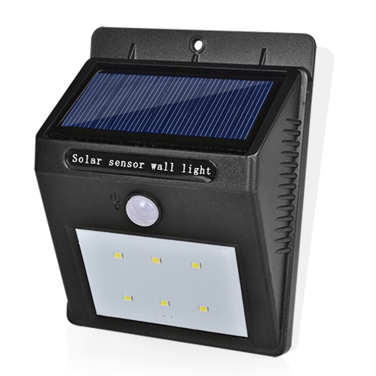 LED 태양 램프 방수 IP65 태양 전원 정원 태양 빛 야외 ABS 벽 램프