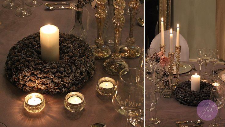 Weihnachtliche Tischdekoration Mit Kerzenst Ndern Und