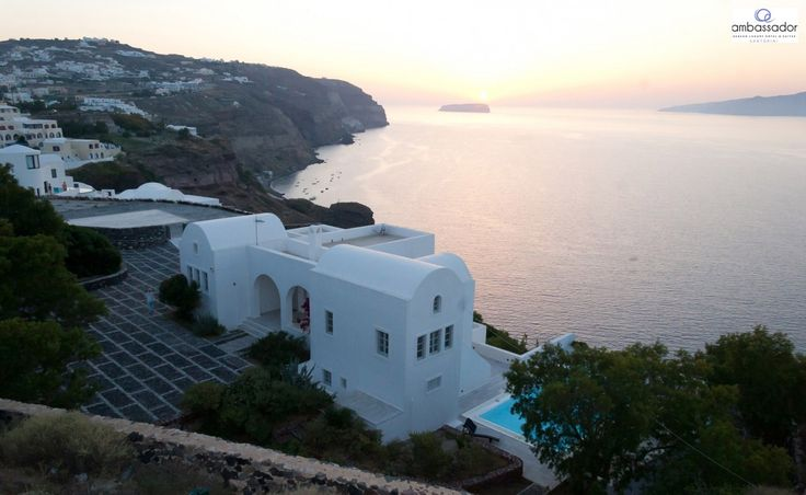 Beguiling Santorini…Can't help falling in love with you! More at ambassadorhotelsantorini.com