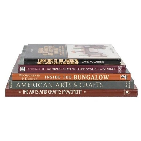 Group of Books on the Arts & Crafts Movement  : Lot 222 found on Polyvore featuring books, books & magazines and decor