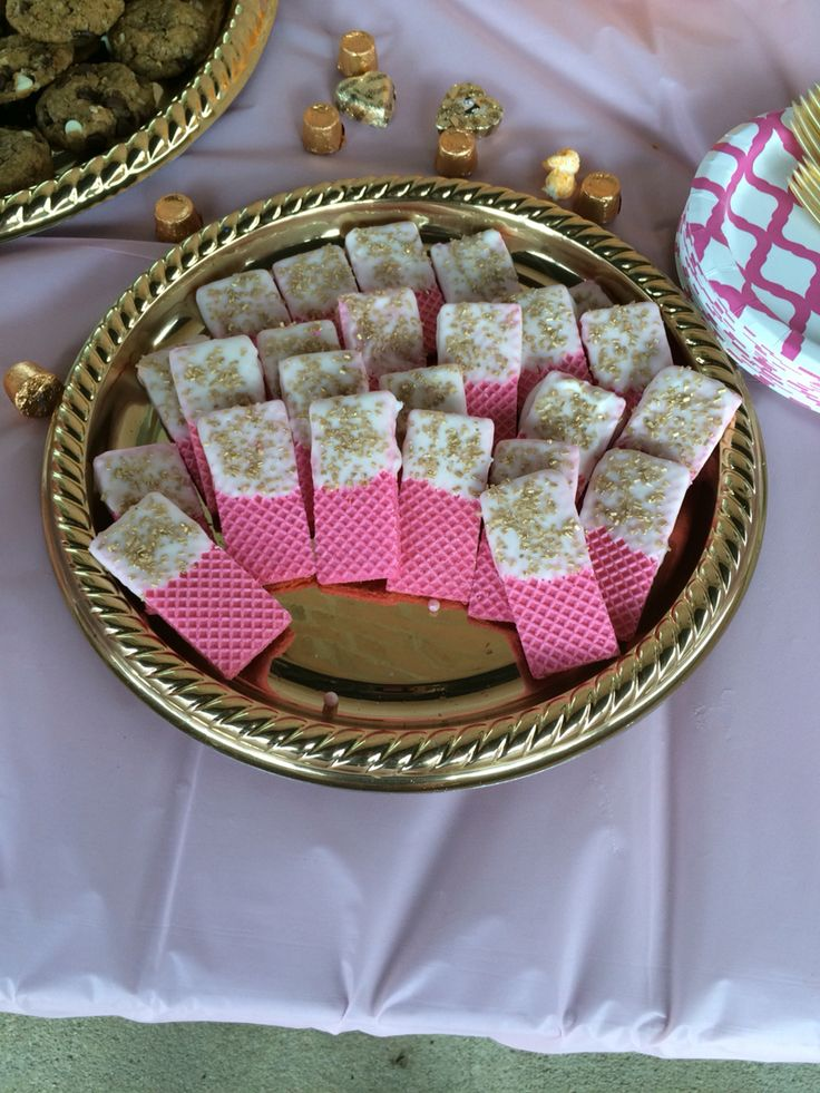 Pink and gold party! Easy yummy party snack!