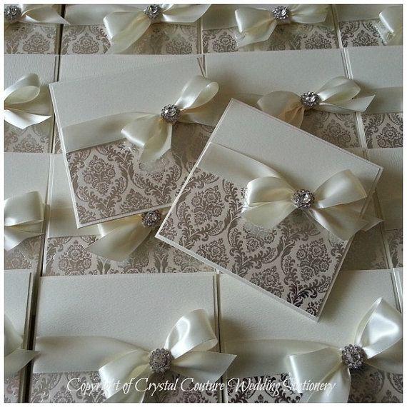 Luxus handgemachte personalisierte Pocketfold Damaris Drucken Einladung zur Hochzeit-Beispiel Opulenz auf Etsy, CHF6.07