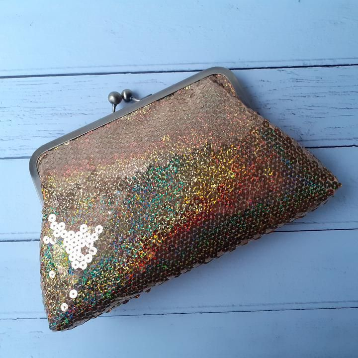 Bags Pouch Handbag Holographic Handbag Coins Make up Phone Tote Clutch Gifts