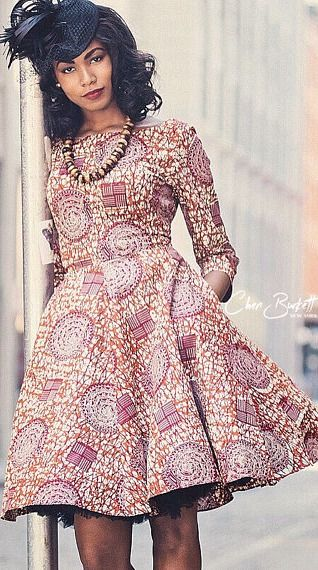 "African Print Dress - ""Jackie O Dress"" | Crimson. Ankara | Dutch wax | Kente | Kitenge | Dashiki | African print bomber jacket | African fashion | Ankara bomber jacket | African prints | Nigerian style | Ghanaian fashion | Senegal fashion | Kenya fashion | Nigerian fashion | Ankara crop top (affiliate)"