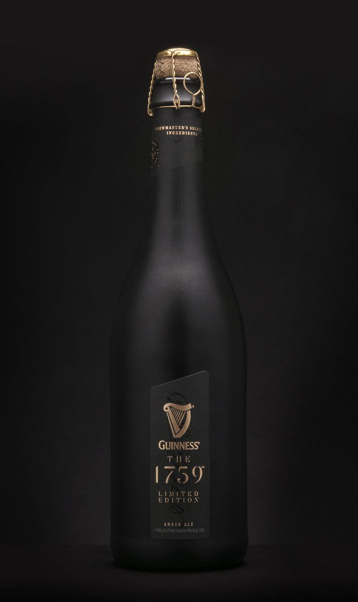 Guinness The 1759 luxury limited edition beer. The ultra-premium beer served in stemless champagne flutes to maximize the flavor.