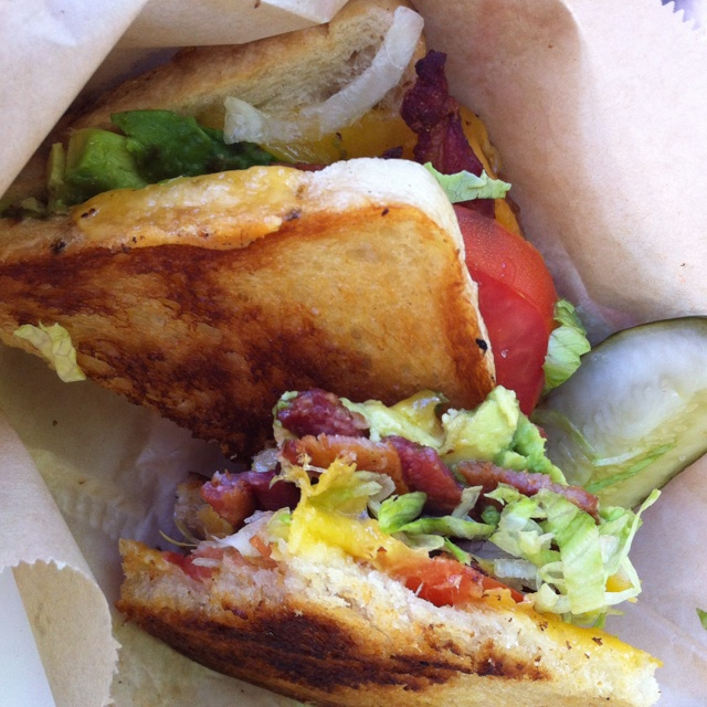 BLT grilled cheese at grilled cheese food truck in downtown Portland ...