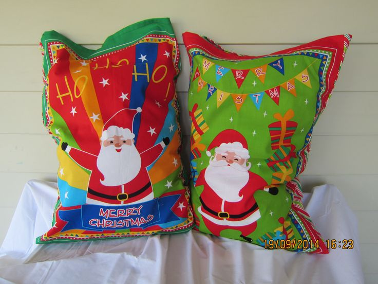 Green and Red Santa Sack (W 51 cm x H 74cm) - $29.95 each + postage