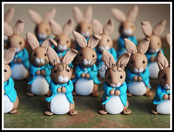 Peter Rabbit Cupcake Toppers on Cake Central