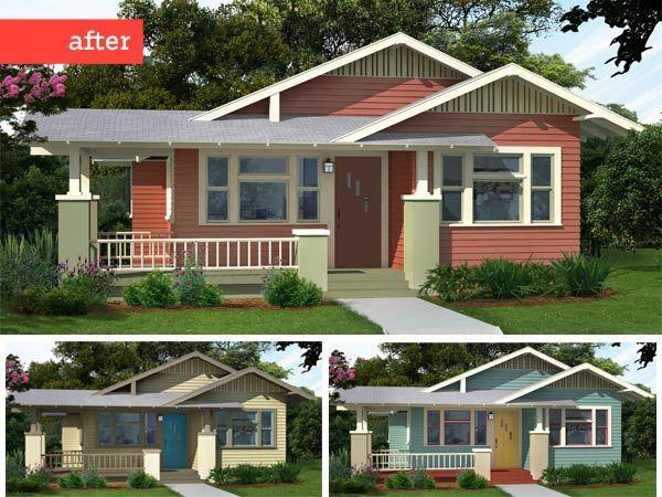210 best images about exterior paint colors on pinterest for Bungalow paint schemes