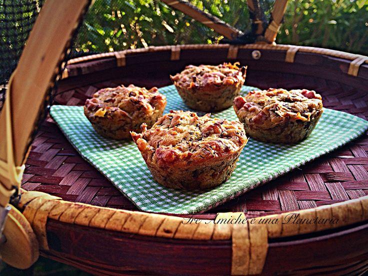 Muffin salati radicchio e salsiccia