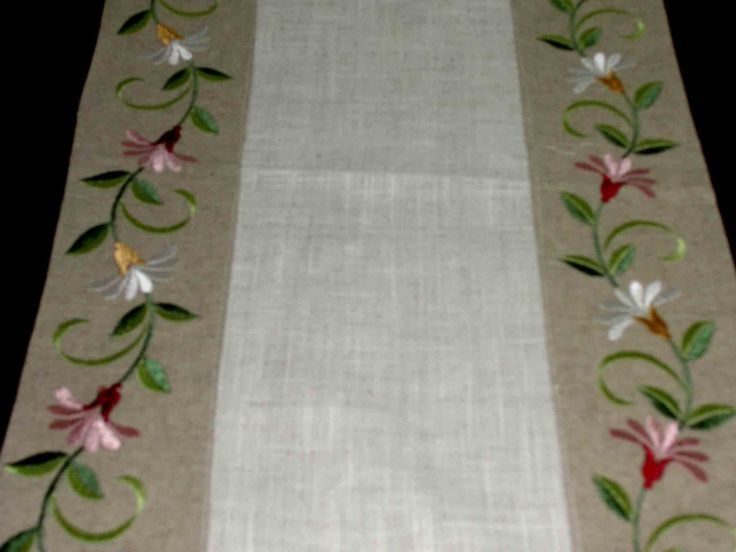 Amazing Machine Embroidered Table Runners   Google Search