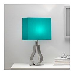 IKEA - KLABB, Table lamp, You can create a soft, cozy atmosphere in your home with a textile shade that spreads a diffused and decorative light.