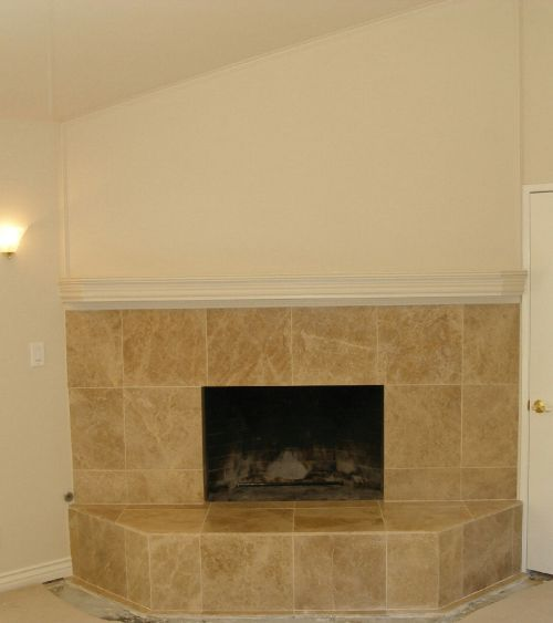 10 best images about reface fireplace on pinterest see best ideas about hearth tiles faux - Tile over brick fireplace ...