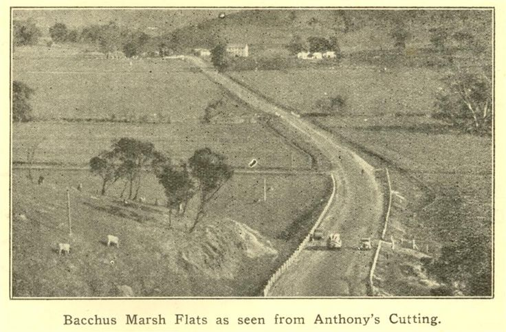 Bacchus Marsh Flats from Anthony's Cutting; 1936