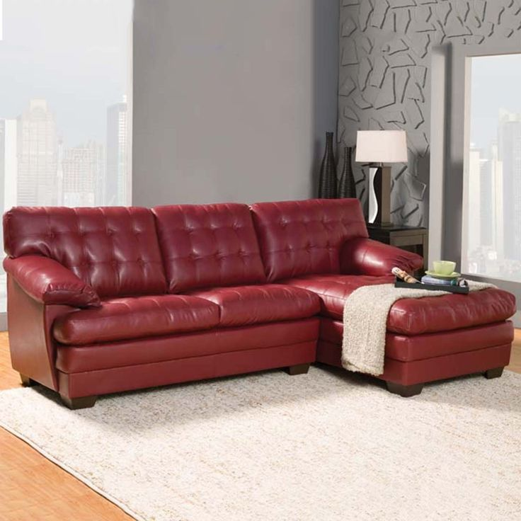 Dwight sectional sofa with chaise and optional ottoman for Bonded leather sectional with chaise
