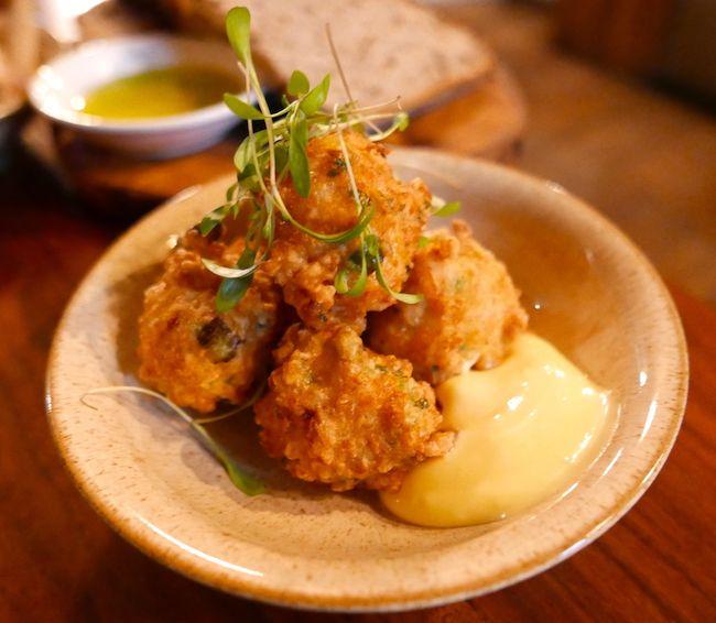 pizarro restaurant bermondsey street london prawn fritters