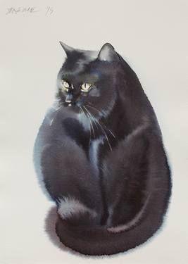 "Saatchi Art Artist Endre Penovác; Painting, ""Cat V."" #art"