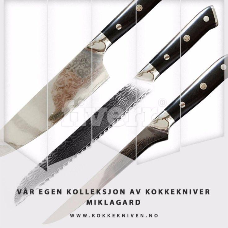 Endelig i salg! Våre egne kokkekniver: Miklagard.Høy kvalitet til rimelige priser.