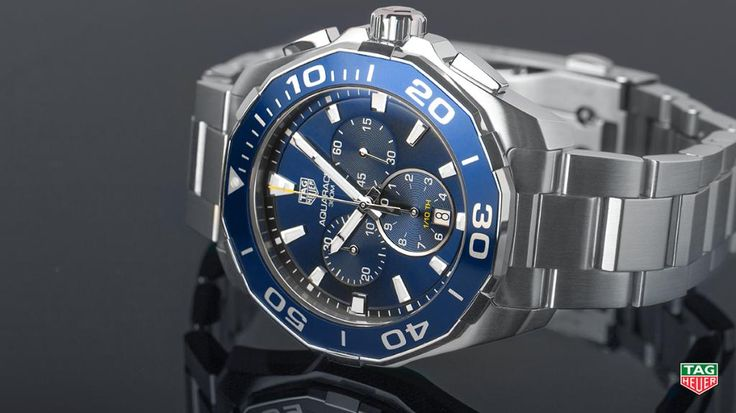 TAG Heuer @TAGHeuer Dive into your new style with the TAG Heuer Aquaracer 300M Chronograph, a watch that reflects you. More at: http://tag.hr/Aquaracer-Chronograph-43mm …