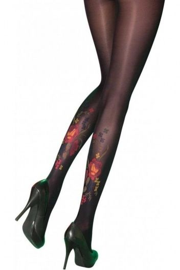 Pretty Polly 'Secret' Darkly Floral Fashion Tights