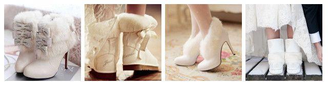 stivali sposa inverno pelliccia - bridal winter boots
