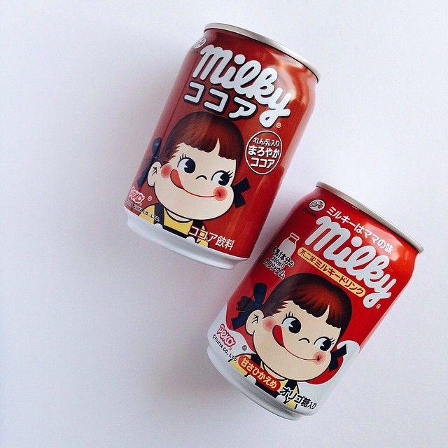 Milky drinks! Available from selected Fujiya restaurant / stalls. Photo by @kikocagayat ✌️ #milky #pekochan #japan #japanloverme